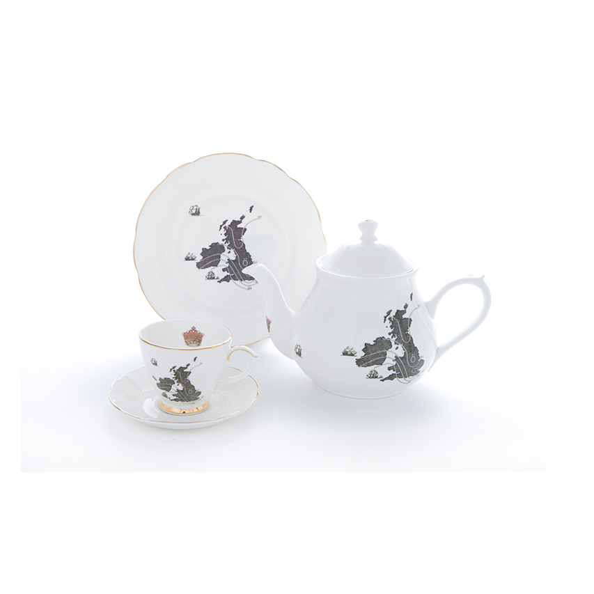 Ali Miller UK Map Tea Set Hampstead Mums