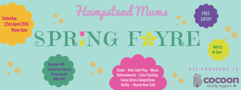 Hampstead Mums Spring Fayre NW3 Parents Rosslyn Hill Church