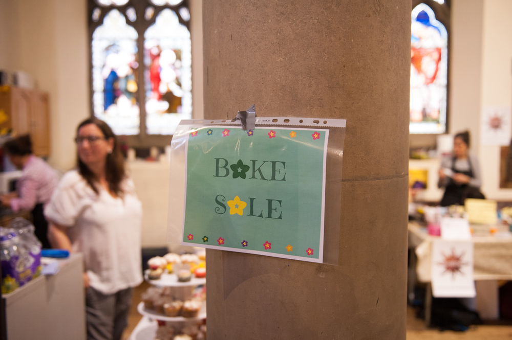 Bake sale. Hampstead Mums Spring Fayre