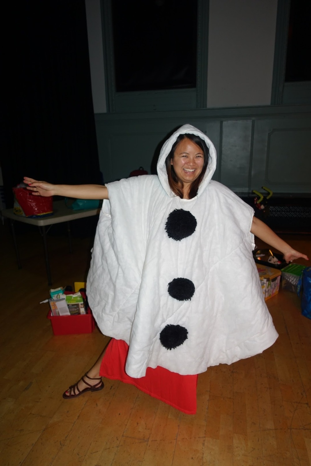 Diana, founder of Hampstead Mums, as Olaf