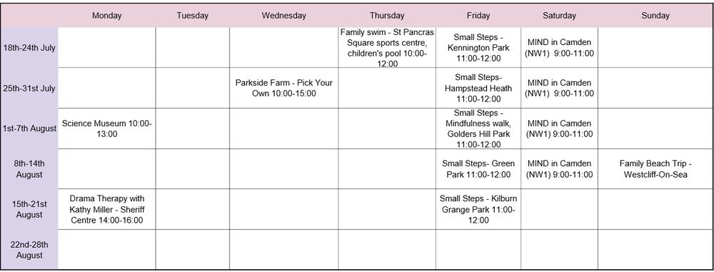cfs summer timetable
