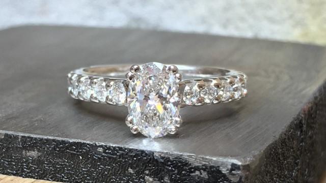 Platinum and diamond ring elgin