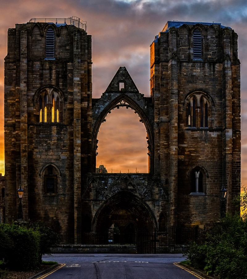 Elgin Cathedral by local photographer Mike Gill.
