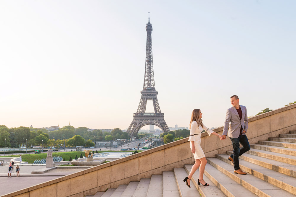 Proposal-photographer-in-Paris-Christian-Perona-sunrise-Trocadero-Eiffel-tower-she-said-yes-wedding-couple-stairs-dress-2.jpg