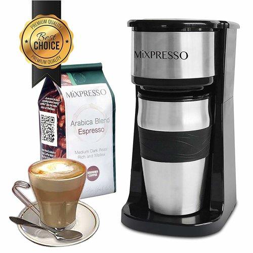 Single Cup Coffee Maker 14oz Travel Thermos Mug Combo Espresso