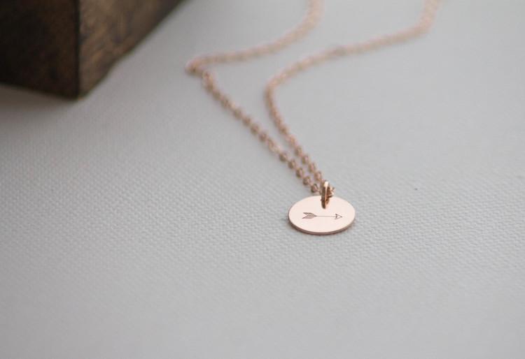 fcdea2d3944e90 Dainty Rose Gold Arrow Necklace — Betsy Farmer Designs