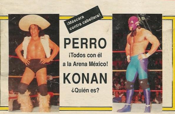 Perro Aguayo takes on Konan in a Hair vs Mask match