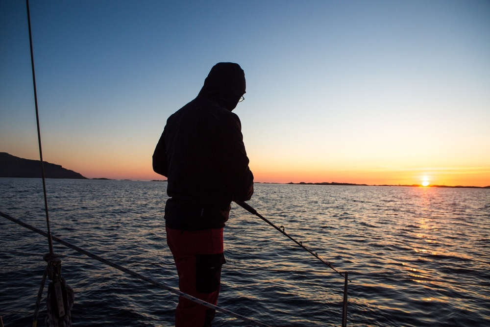 Fishing in the midnight sun!