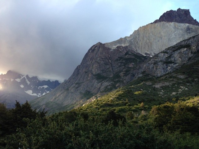 The view from Cuernos Refuge