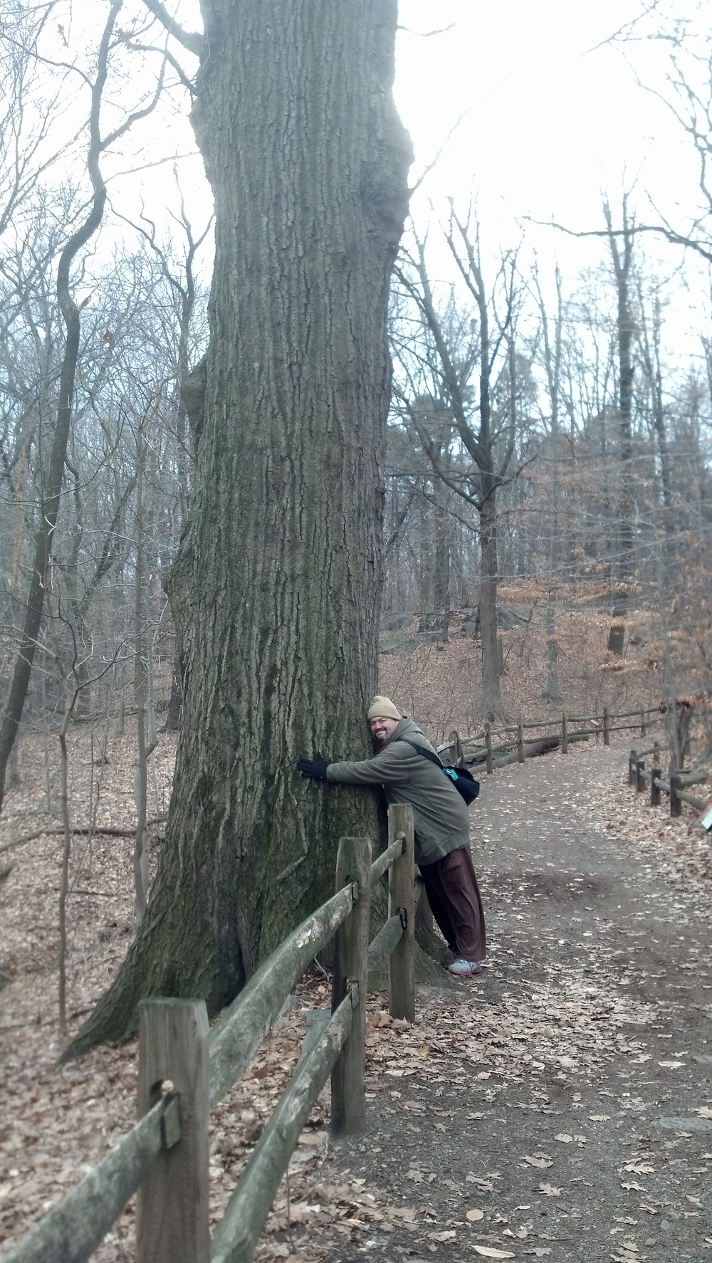 My cousin Fred Martinez, an enthusiastic tree hugger!