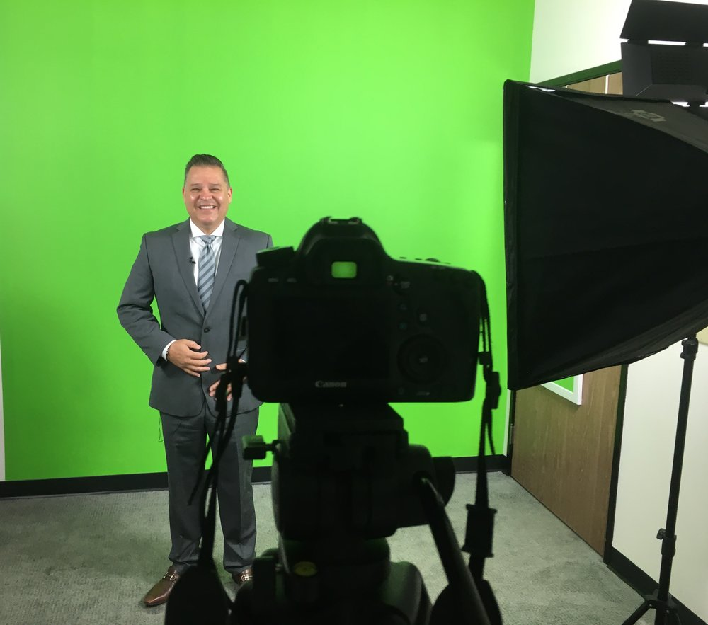 """Lights, Camera, Action!  Our CEO Jesse Hernandez was a guest on the YouTube series """"The Low Down"""" hosted and founded by Yesenia Lopez. Jesse shared a quick tip on how to keep new agents focused on lead generating task or as he likes to call it """"money making time."""" Make sure to keep your eyes open for Jesse's helpful tip as his filmed episode will be release for the month of April."""
