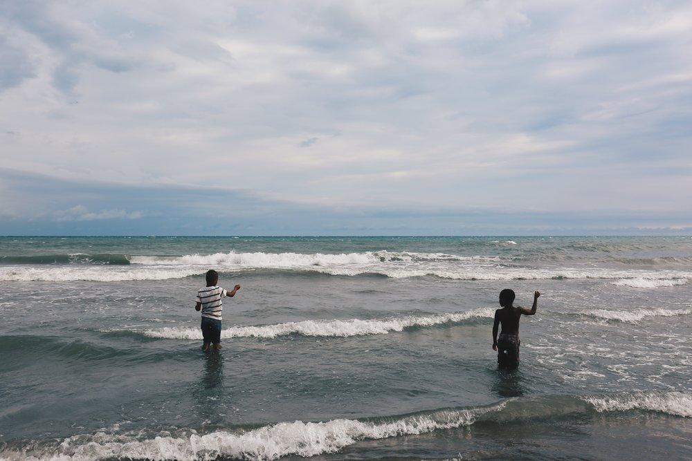 Young Fishermen in Little Ochie