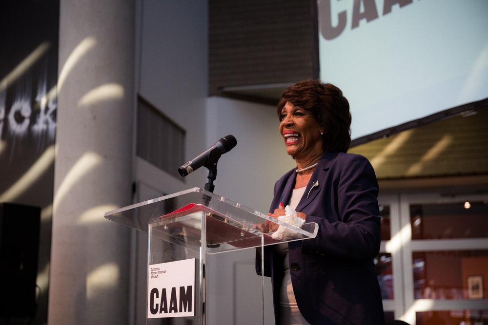 Congresswoman Maxine Waters X CAAM