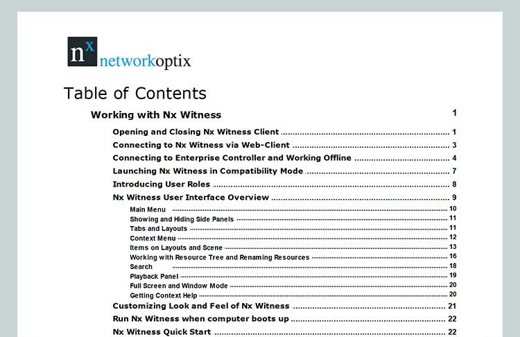 Nx Witness 使用手冊