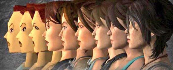 Laura Croft improved over time. Thanks Moore's Law.