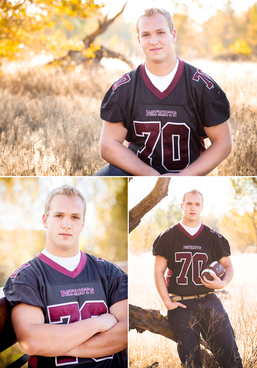 Boise Photographer McKenna Rachelle Photography Photographs High School Senior Football Player