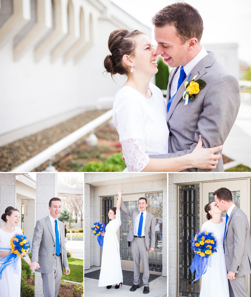 Idaho Photographer Photographs Boise Temple Wedding