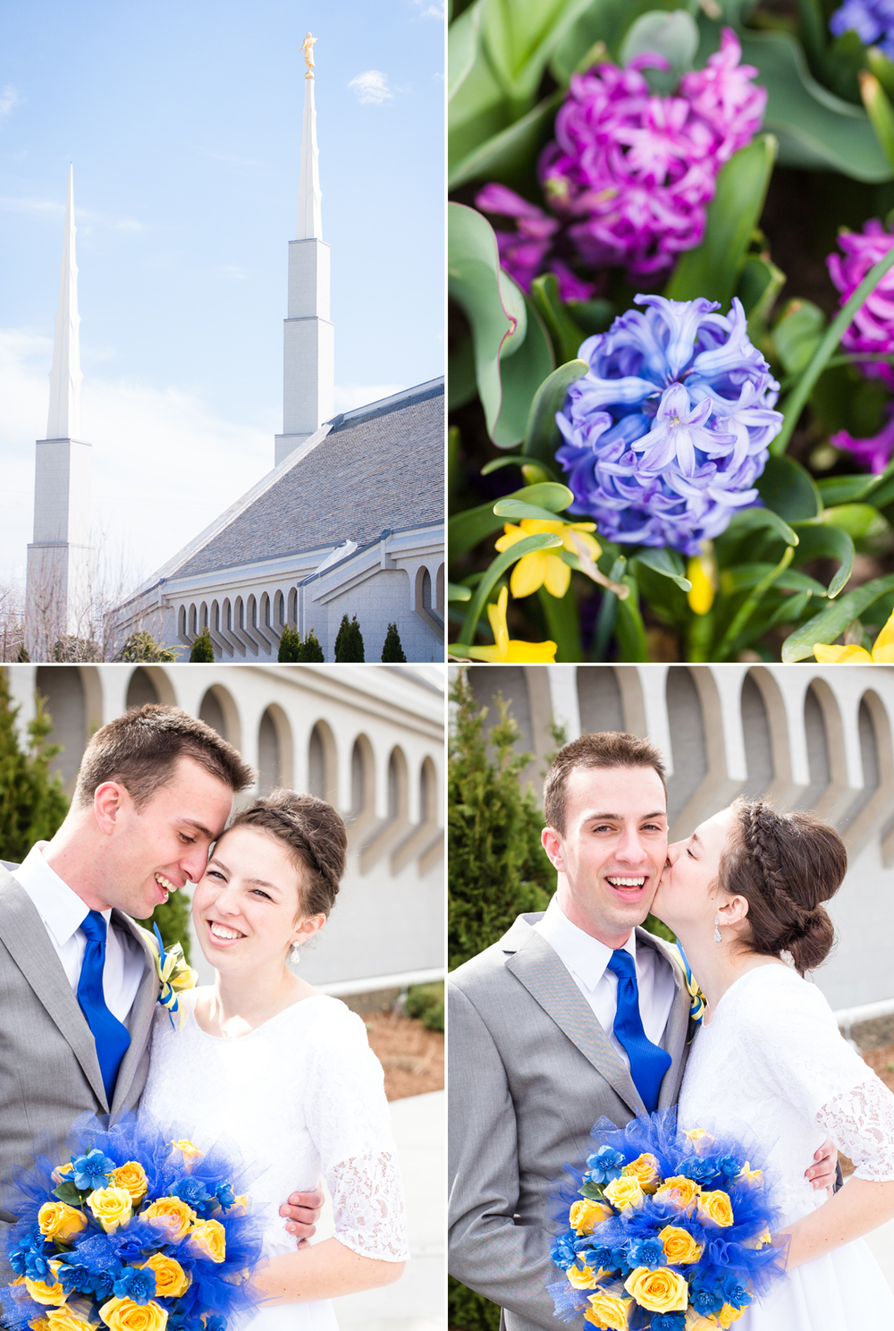 Idaho Photographer Photographs Boise Temple Wedding Spring