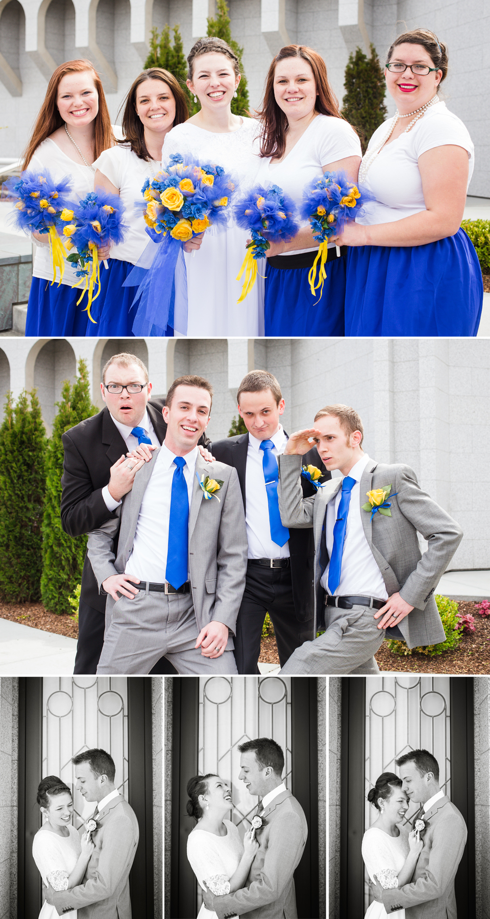 Idaho Photographer Photographs Boise Temple Wedding Bridal Party