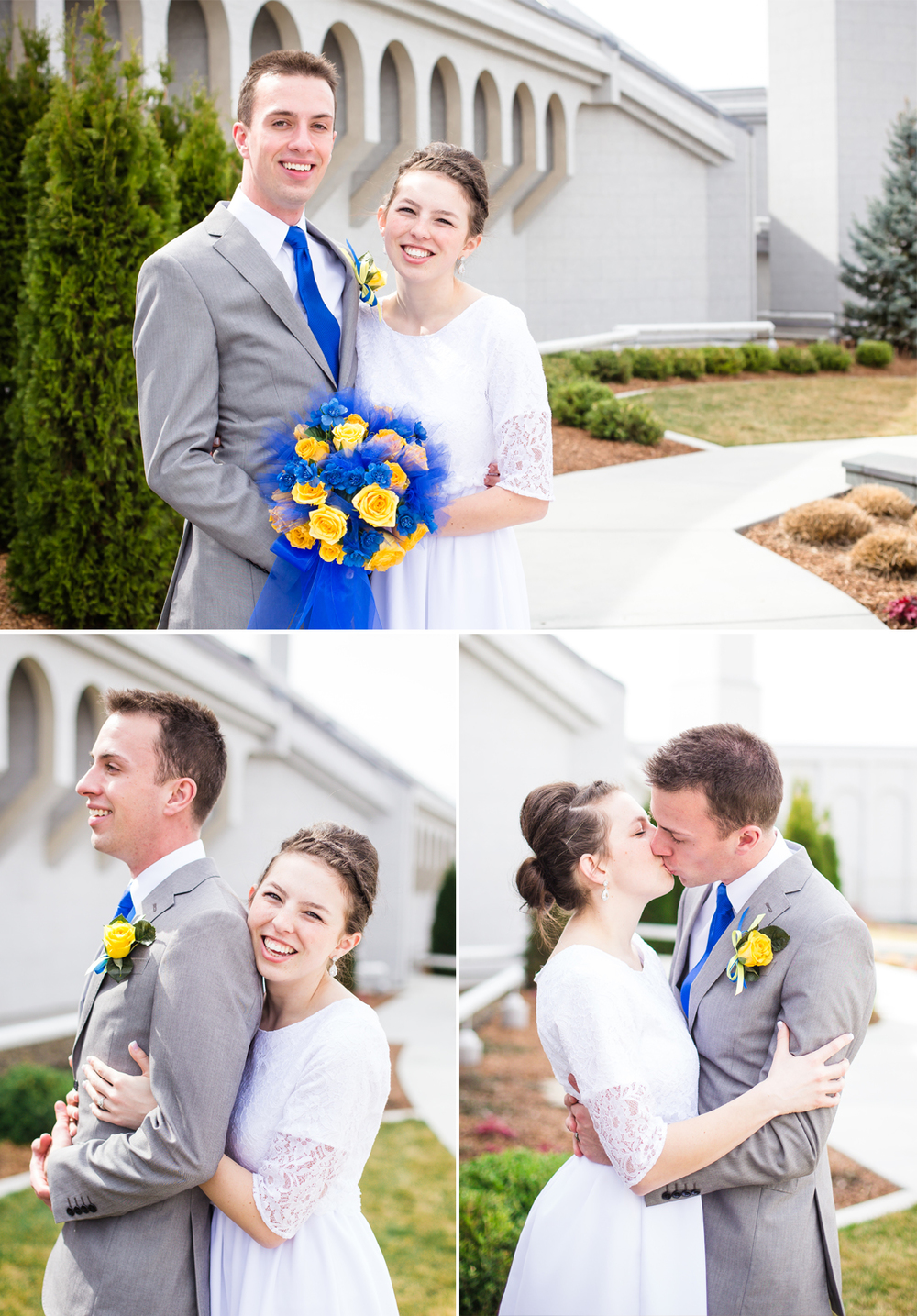 Idaho Photographer Photographs Boise Temple Wedding Bride and Groom