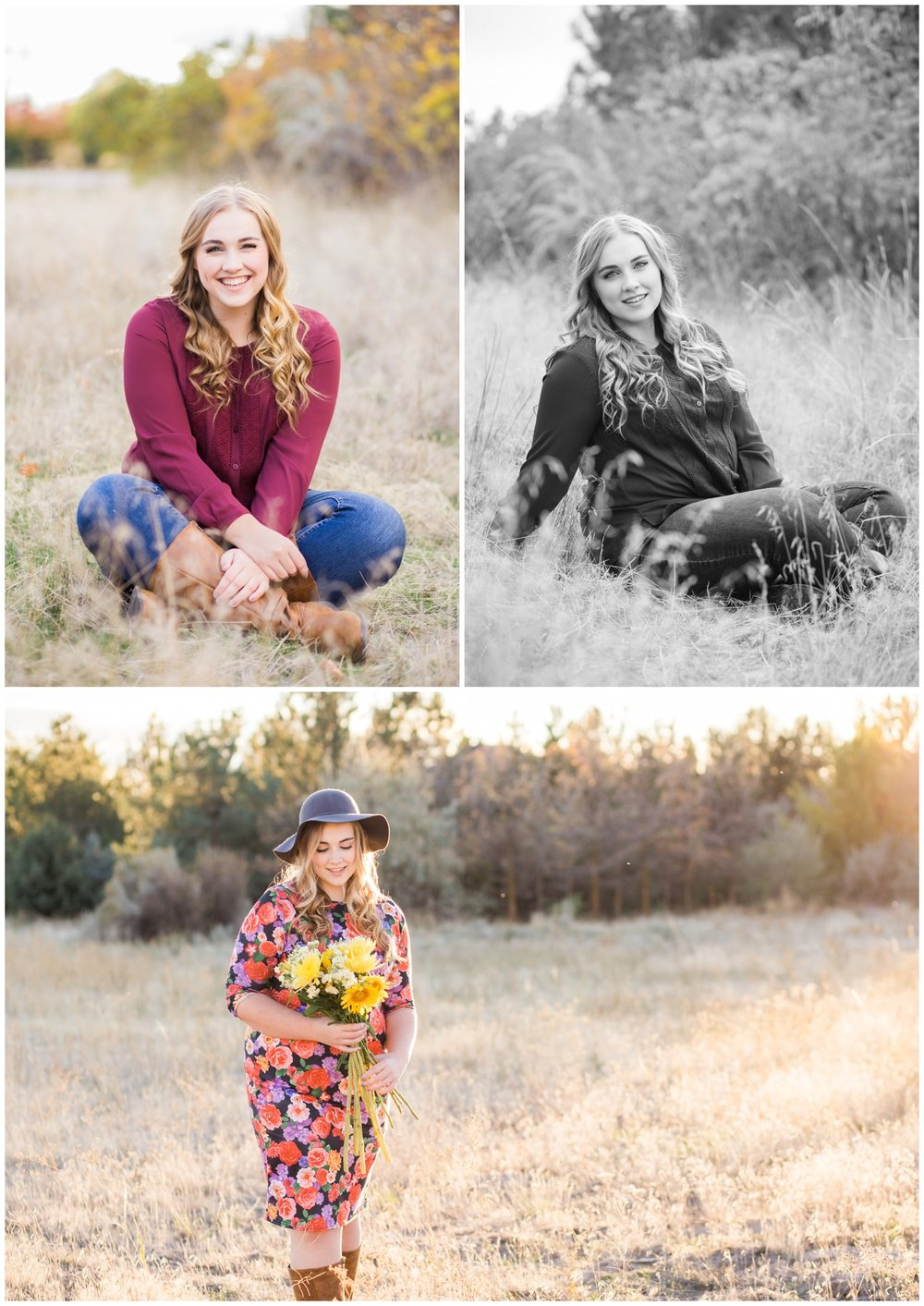 Oregon senior photographer, McKenna Rachelle photography, photographs senior girl in open field