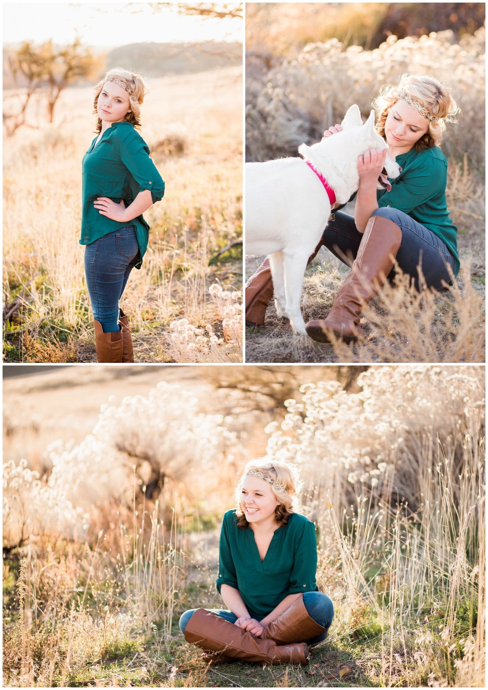 McKenna Rachelle Photography photographs a high school senior girl and her dog in the Boise Foothills.