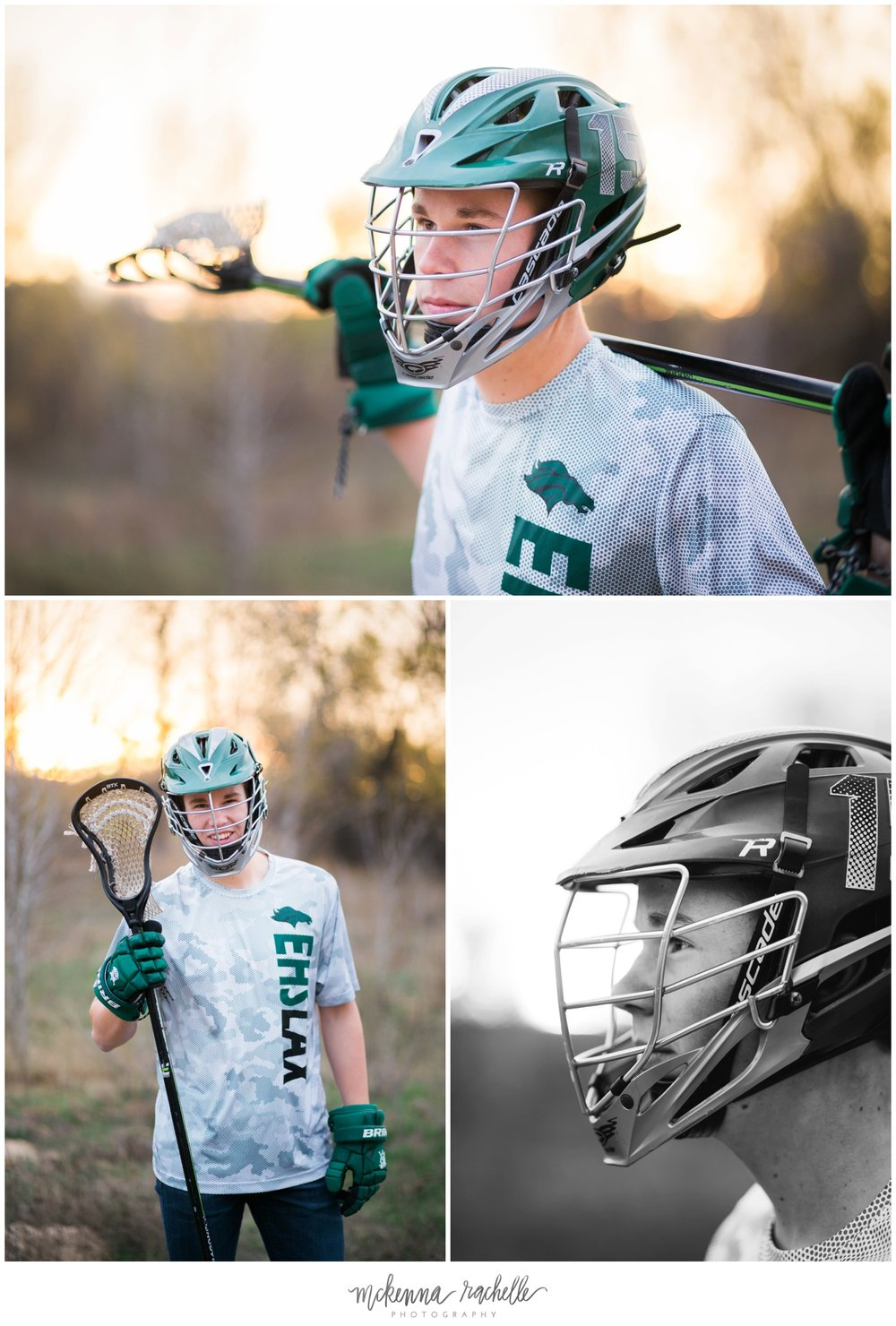 Eagle High School lacrosse player takes senior photos with McKenna Rachelle Photography