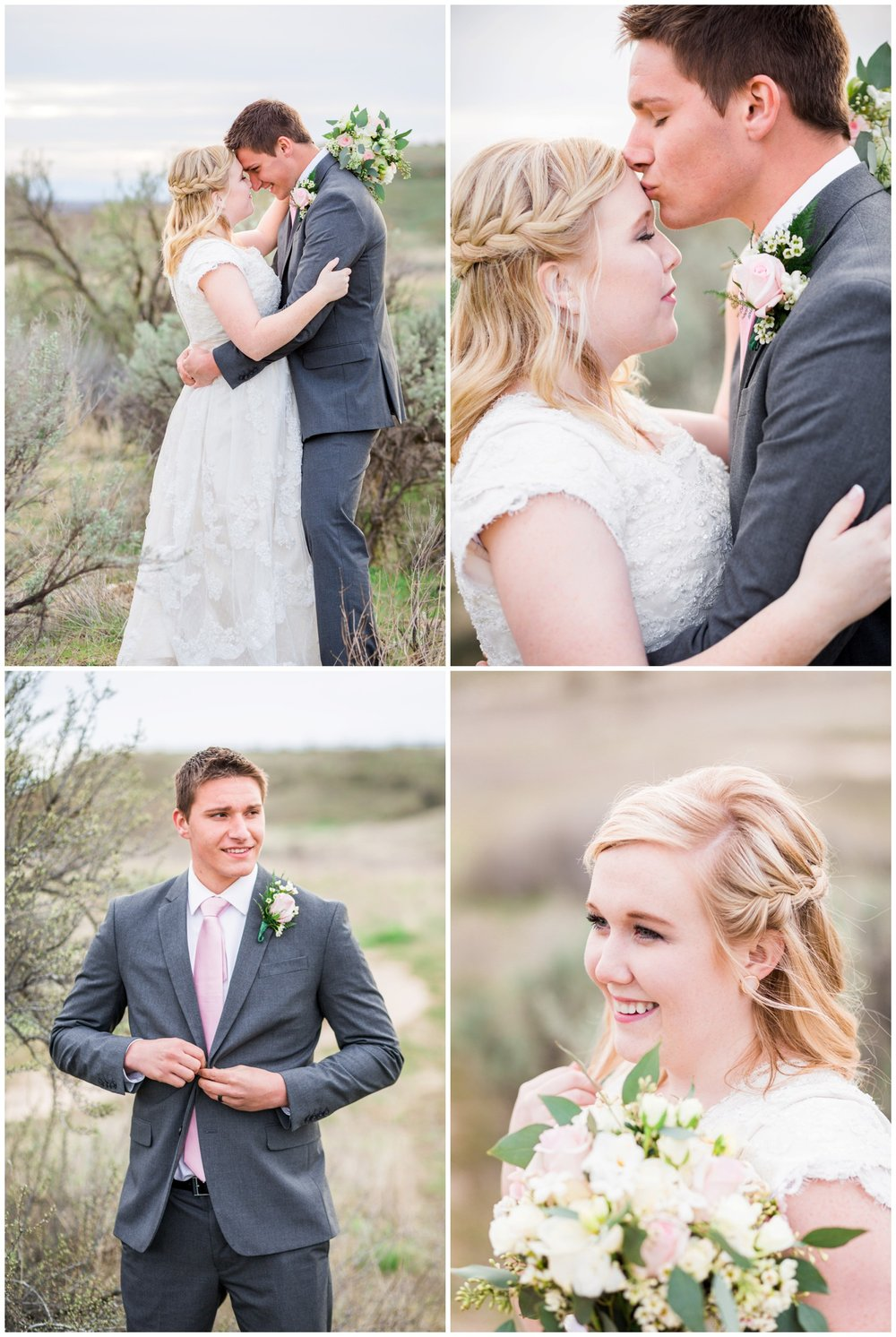 Intimate sunset bridal photos with Oregon wedding photographer.