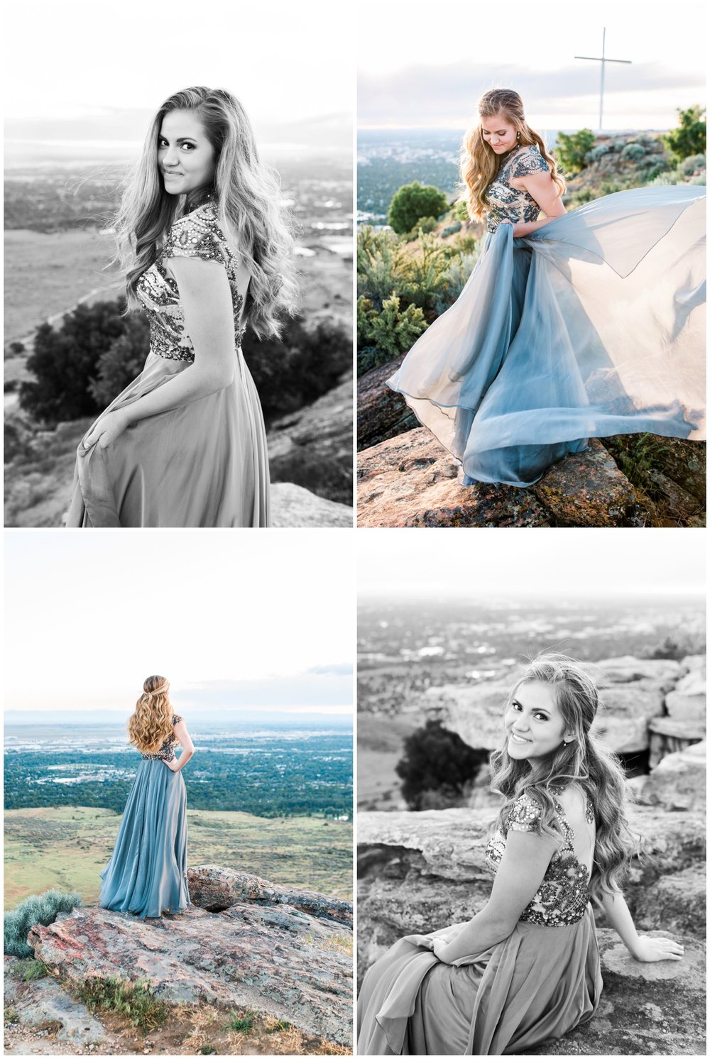 Portland Oregon senior photographer, McKenna Rachelle Photography, photographs senior girl in flowing prom dress.
