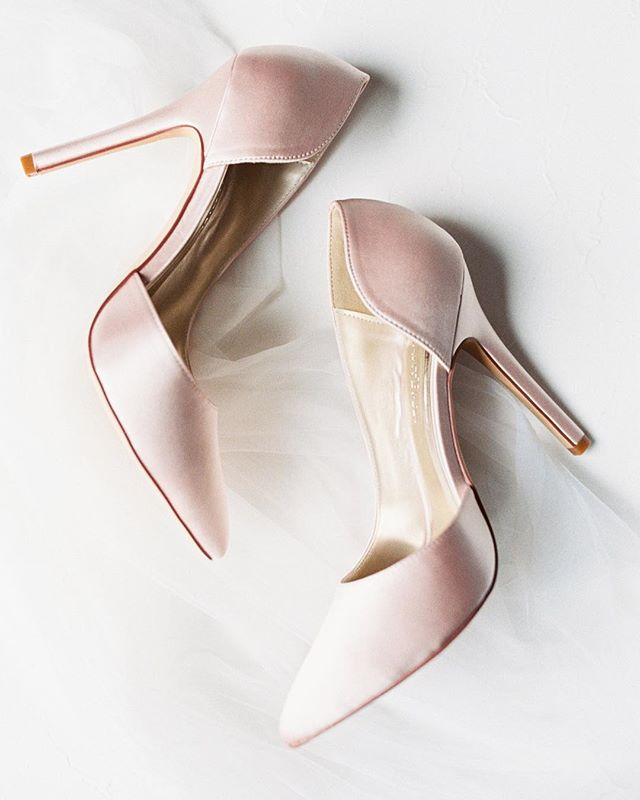 Blush pink bridal shoes? Yes please! Just because you're the bride, doesn't mean you have to wear white or ivory heels on your wedding day. Why not match your choice of footwear to the florals in your bouquet?