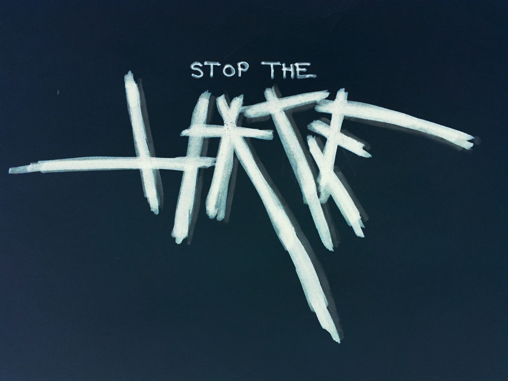 There is so much hatred going around these days. Just Stop The Hate!