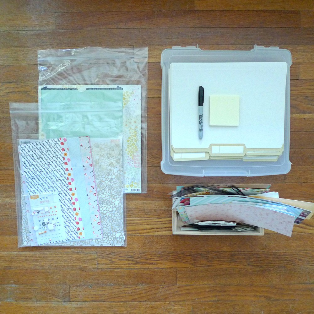 Workspace | Scrap Paper Organization