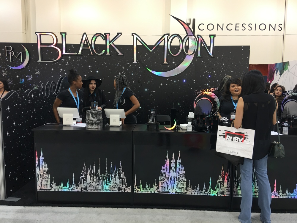 Black Moon Cosmetics Booth, PHAMExpo Los Angeles 2016