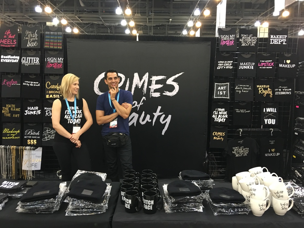 Crimes of Beauty Booth, PHAMExpo Los Angeles 2016