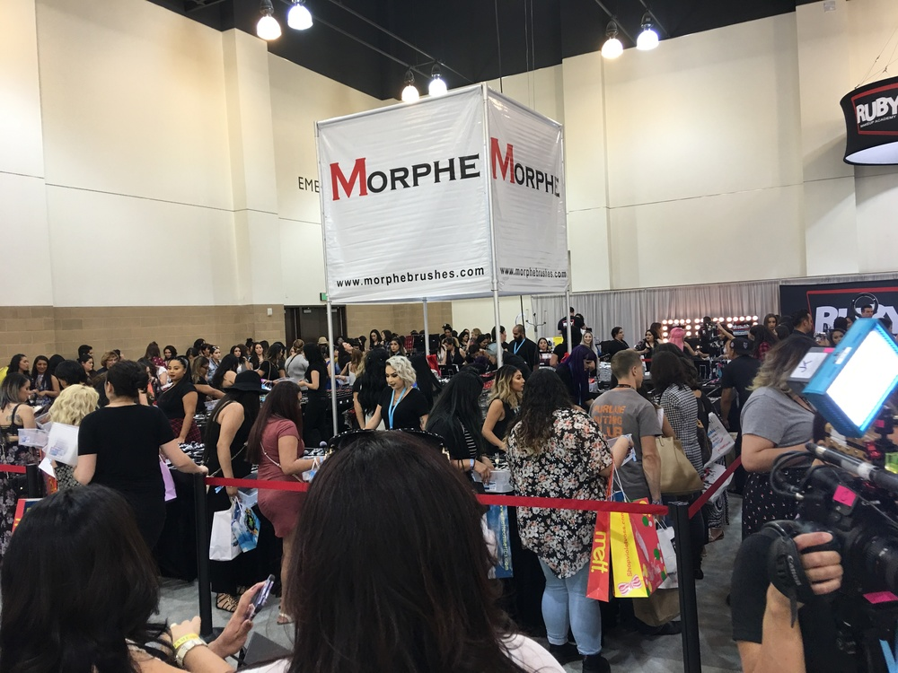 Morphe Brushes Booth, PHAMExpo Los Angeles 2016