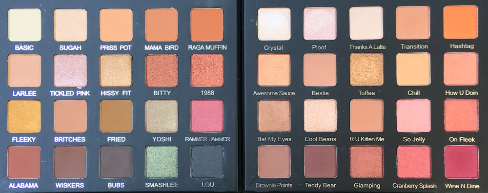 Left: Violet Voss x Laura Lee Palette; Right: Violet Voss Holy Grail Palette