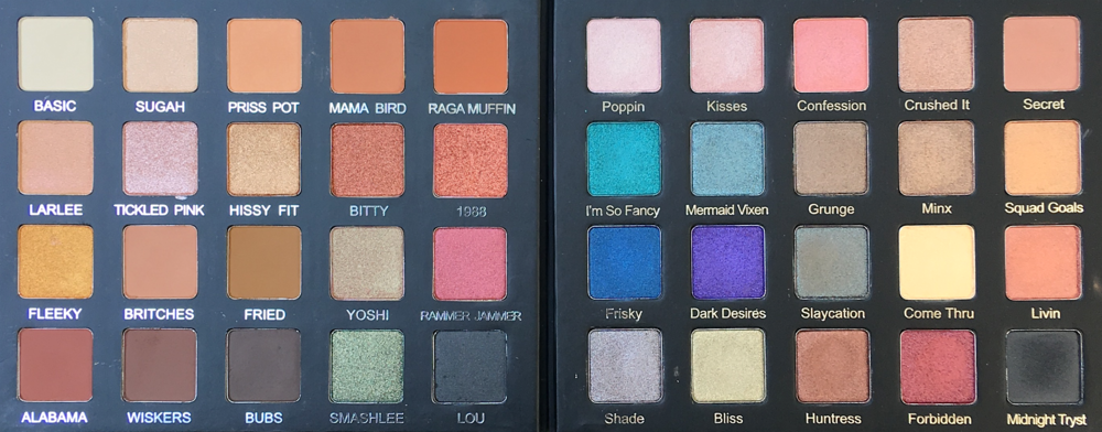 Left: Violet Voss x Laura Lee Palette; Right: Violet Voss Drenched Metal Palette