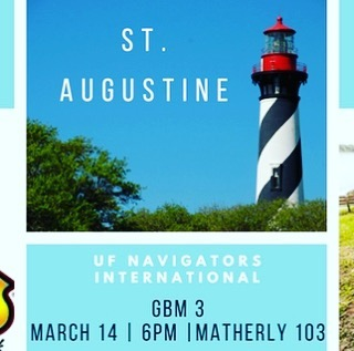Our third general meeting is this Wednesday! Make sure to come out to hear more details of our upcoming events, such as St. Augustine, Wild Adventures in Georgia, and a Lake Wauburg BBQ!