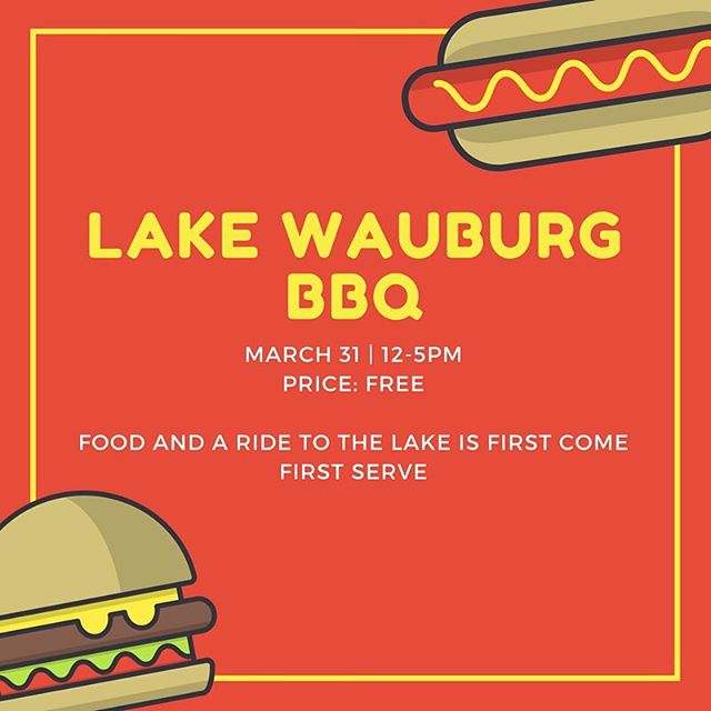 The Lake Wauburg BBQ event is now FREE!!! Please note that food and a ride to the lake are FIRST COME FIRST SERVE. If you already paid the $5, we will be refunding you within the next couple of days. (More information can be found through the event page) www.facebook.com/events/604351509897606