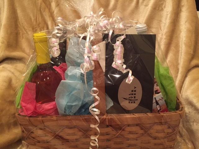 A basket from Mill River Winery