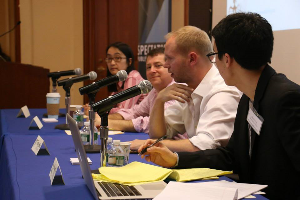 Publisher of Buzzfeed Dao Nguyen, Managing Editor at TIME.com Edward Felsenthal, and CEO at Chartbeat Tony Haile participate in a panel moderated by 138th Managing Editor Steven Lau.