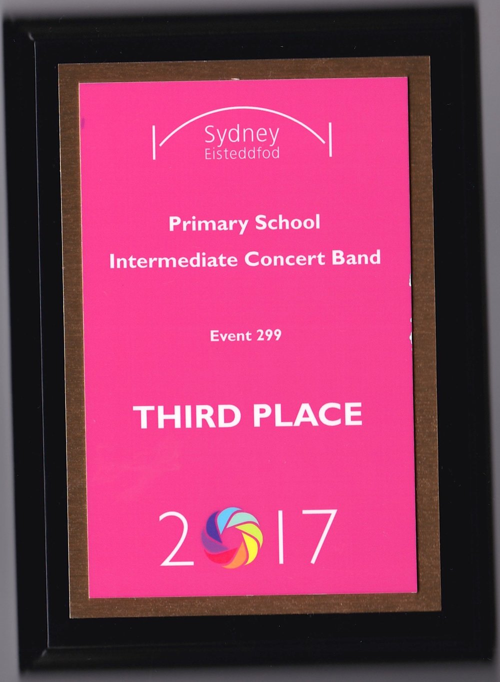 3rd Place - Primary School Intermediate Concert Band Competing against the top bands from some other schools, including year 5 and 6 bands. Well done team.
