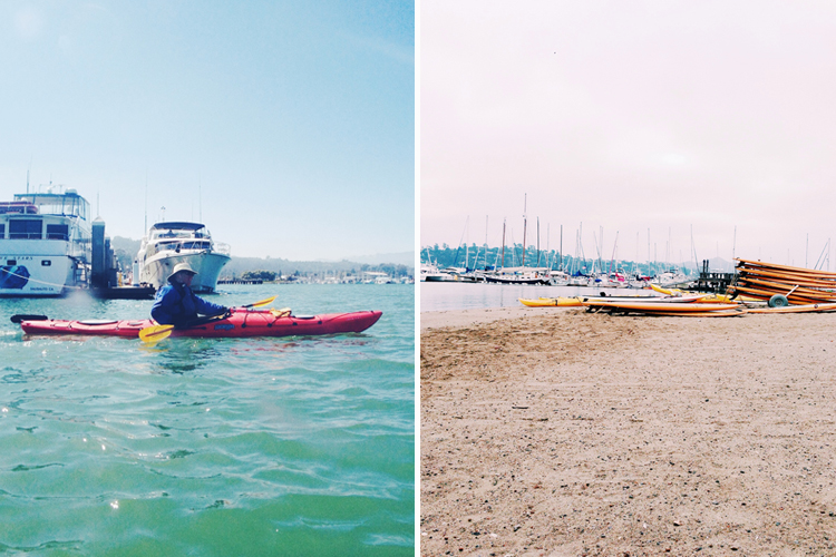 Kayak basics class at Sea Trek in Sausalito, CA.