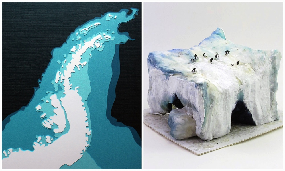 Antarctica Peninsula by Marnie of  Crafterall   |  Tabular Iceberg with Penguins by Ben & Crystal of  VintagebyCrystal