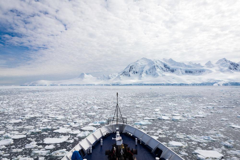 Ice Sail Gerlache Strait, Antarctica