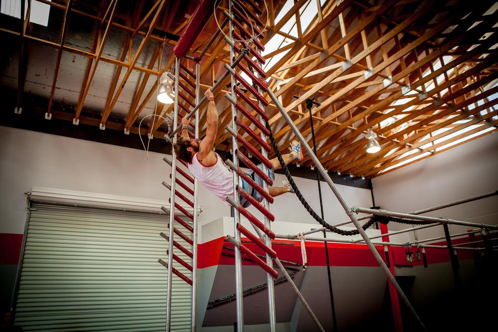 Matt Aldrich on the salmon ladder.