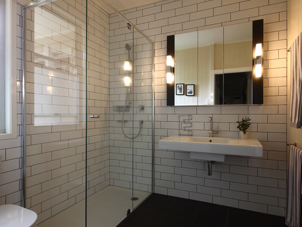 White subway tile bathroom