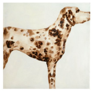 DALMATIAN ART ON CANVAS  $175  40X40