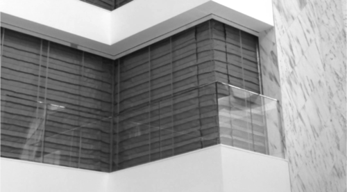 Corner Accordion Fire Curtains Continuous Shapes