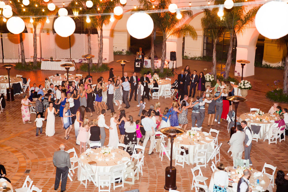 Santa Barbara Wedding DJs: Dance floor and lighting rentals